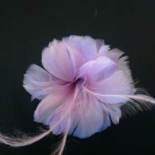 Lilac Lily Feather Flower